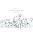 cycling - modern line design style web banner vector image vector image