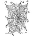 decorative beautiful spider web children s vector image vector image