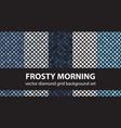 diamond pattern set frosty morning seamless tile vector image vector image