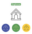 doghouse line icon vector image