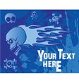 emo background with skulls vector image vector image
