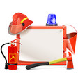 Firefighter Board vector image vector image