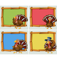Frame designs with turkeys vector image vector image