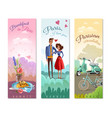 france paris vertical banners vector image vector image