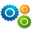 gearwheel gear icon settings configuration vector image