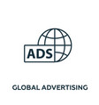 global advertising icon symbol creative sign from vector image vector image