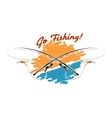 Go Fishing Emblem vector image