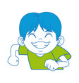 happy boy with big smile celebration cartoon vector image