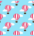 hot air balloon in the clouds background vector image vector image