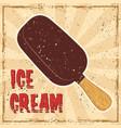 ice cream colored retro banner in retro style vector image