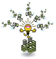 ideas making money vector image vector image