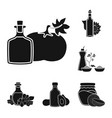 isolated object of oil and agriculture symbol set vector image