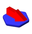 Isometric icons 3D arrow Pictograms arrow vector image vector image
