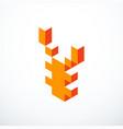 japanese yen isometric pixel icon vector image