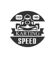 Karting Club Speed Racing Black And White Logo vector image vector image