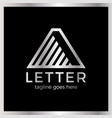 letter a line arrow up logotype vector image