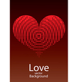 Love Red Heart Background vector image vector image