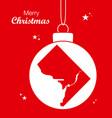 merry christmas theme with map of washington dc vector image vector image