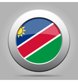 metal button with flag of Namibia vector image vector image
