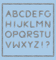 nautical rope font vector image
