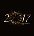 New Year Clock 2017 vector image vector image