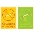 no smoking area sign vector image
