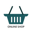 online shop icon vector image vector image
