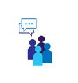people icon social talk network group logo symbol vector image vector image