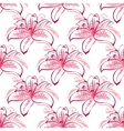 Pink and purple lilies seamless pattern vector image