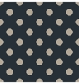 Polka dot seamless pattern on black background vector image vector image