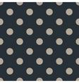 polka dot seamless pattern on black background vector image vector image