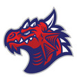 red dragon head vector image vector image