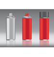 red spray can vector image vector image