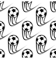 Seamless pattern of speeding soccer balls vector image vector image