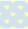 Seamless pattern of tea cups on a blue background vector image vector image