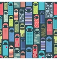 Seamless pattern with colorful ghosts vector image vector image