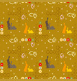 seamless pattern with easter rabbits vector image vector image