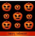 set nine pumpkins for halloween vector image vector image