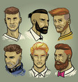 set of mens hair styles collection