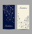 set vertical banners beautiful winter pattern vector image vector image