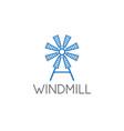 simple old farm windmill vector image