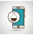 smartphone blue lab tube isolated icon design vector image