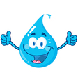 Smiling Water Drop vector image vector image