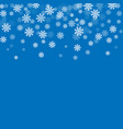 snowflake background blue vector image vector image