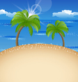Summer holiday background with beach palm sky vector image vector image