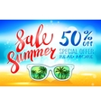 Summer sale marketing template with copy space vector image vector image