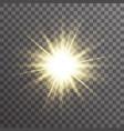 sun light glow abstract ray starburst effect vector image