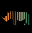 the linear of a rhinoceros logo vector image vector image
