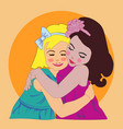 two girls girls hugs girlfriends vector image vector image