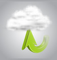 upload to cloud vector image vector image
